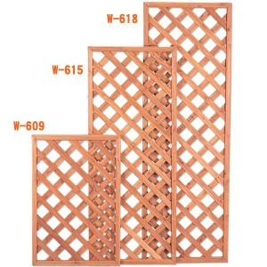 ラティス 4枚組 W-609 ブラウン[ガーデニング・庭]  アイリスオーヤマ[代引不可]送料無料