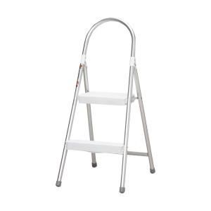 アルミステップ ALS-2 ホワイト(脚立・踏み台)  アイリスオーヤマ