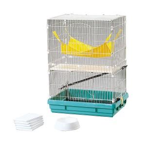 フェレットケージ飼育セット FK-652 パステルグリーン[小動物] アイリスオーヤマ 送料無料