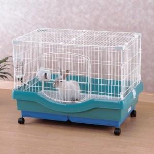 小動物快適ケージ RU-800 パステルグリーン[小動物・ペットハウス] アイリスオーヤマ 送料無料
