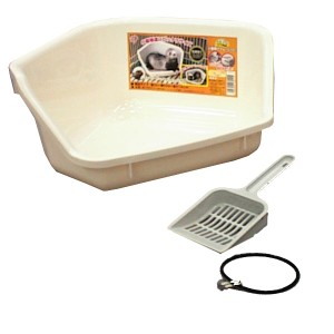 (数量限定アウトレット)小動物用トイレ FG-330 ホワイト アイリスオーヤマ
