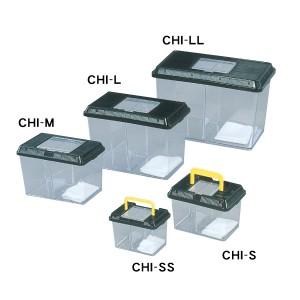 仕切り付き飼育ケース(コバエ防止シート付き) Mサイズ CHI-M ブラック アイリスオーヤマ