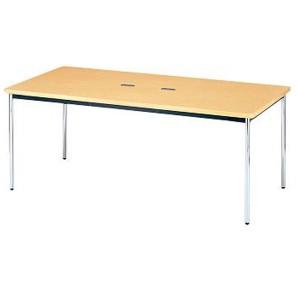 KTH-1890(ナチュラル) 配線ホール付テーブル