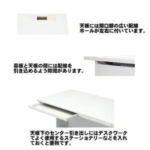 【送料無料】 両袖机 幅140タイプ