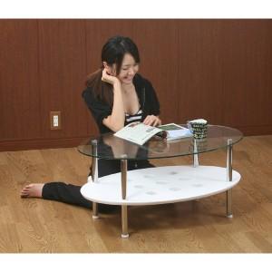 【送料無料】 ガラスセンターテーブル [A2611326]