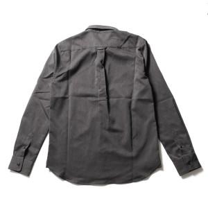 シャツ メンズ TR素材 オリジナル ストレッチ モード ボタンダウン 長袖シャツ  スプ