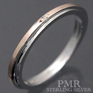 PMR ピーエムアール シルバー リング 指輪 レディース メンズ ダイアモンド ピンク PMR369DIA-PK