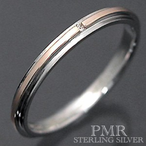 PMR ピーエムアール シルバー リング 指輪 レディース メンズ ダイアモンド ピンク PMR370DIA-PK