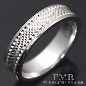 PMR ピーエムアール シルバー リング 指輪 レディース メンズ カット PMR414-RD