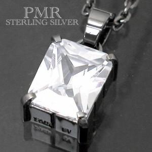 ネックレス メンズ レディース PMR OLTRE ピーエムアールオルトレ シルバー オクタゴン キュービックジルコニア RM-PMP361CZ-BK