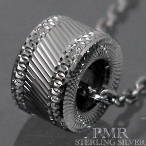PMR ピーエムアール シルバー ネックレス メンズ レディース カットベビー ブラック RM-PMP408-BK
