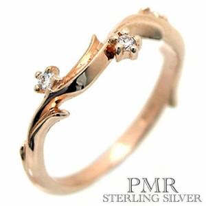 pmr wish ピーエムアールウィッシュ シルバー リング 指輪 レディース キュービックジルコニア フローラル ピンキー RM-WPR233-PK