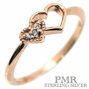 pmr wish ピーエムアールウィッシュ シルバー リング 指輪 レディース キュービックジルコニア ハート RM-WPR328CZ-PK