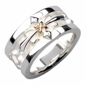 white clover ホワイトクローバー リング 指輪 メンズ レディース シルバー K10クロス WSR210 刻印可能