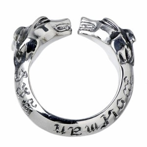WOLFMAN B.R.S ウルフマン シルバー リング 指輪 メンズ Wヘッド WO-R-30