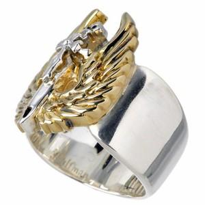 WOLFMAN B.R.S ウルフマン シルバー リング 指輪 メンズ セイクリッドエンジェル ゴールド WO-R-33G