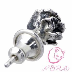 NORA ノラ シルバー ピアス レディース 小さな薔薇の 1個売り片耳用バラ NR-PE-0001