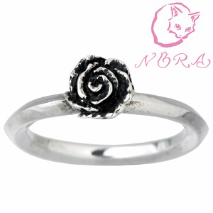 NORA ノラ シルバー リング 指輪 レディース メンズ 小さな薔薇の NR-R-0002