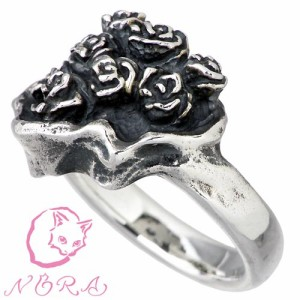 NORA ノラ シルバー リング 指輪 レディース メンズ 薔薇のブーケの NR-R-0006