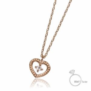 me. ダイヤ/ハートネックレス 【ネックレス】【necklace】【首飾り】【ペンダント】【レディース】【Lady's 女性用】【DIA
