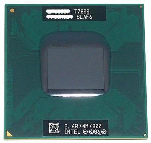 【中古】Core 2 Duo モバイル T7800★2.6GHz FSB800MHz Merom★SLAF6★【送料180円〜】【即納】≪intel インテル Core2Duo core2≫