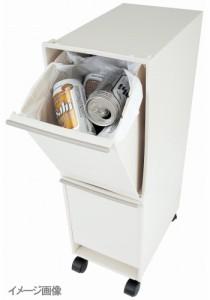 ゴミ箱 資源ゴミ分別ワゴン2段( ごみ箱 ゴミ箱 分別 ダストBOX くずかご ダストボックス )