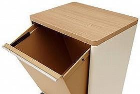 分別ゴミ箱 資源ゴミ分別ワゴン ワイド 3段 木天板( ごみ箱 ゴミ箱 分別 ダストBOX くずかご ダストボックス 送料無料 )