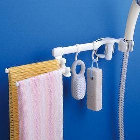 シャワーフック 浴室収納 タオル掛け シャワーインフック&タオル