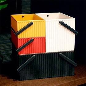 収納ボックス ボンテ キャリーボックス L ( CD DVD メディア収納ケース )