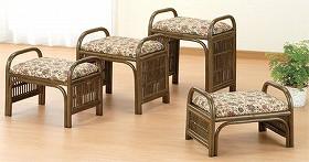 籐[ラタン] らくらく座椅子ロータイプ 【C91B】