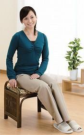 籐[ラタン] らくらく座椅子ミドルタイプ 【C92B】