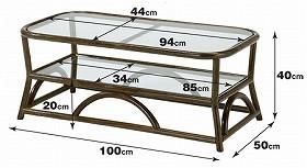籐[ラタン] テーブル 【T171B】