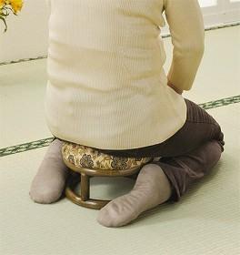 籐(ラタン) 正座椅子 丸型 【C99】