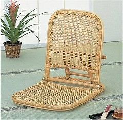 籐[ラタン] 座椅子 【S11】