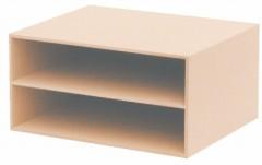 収納ケース TypeA4 ハーフ2段ボックス G−112 ( 書類収納 収納ボックス )