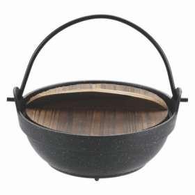 いろり鍋 マーブルコート 懐石 16cm 一人鍋
