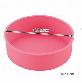 ケーキ型 デコレーション型 丸型 19cm シリコン製 ( 製菓道具 )