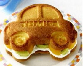 キャラクター シリコンケーキ型(スポンジケーキ) トミカ ( 製菓用具  シリコン製 )