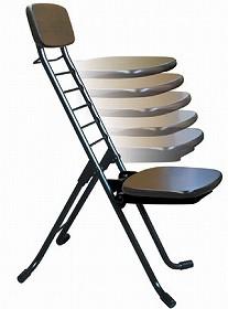 折りたたみ椅子 リリィチェア 6段階調節 ナチュラル ( チェア イス )