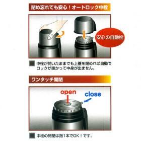 水筒 ステンレスボトル ワンダーボトル 1L( コップ付 保温・保冷 )