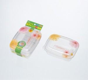 保存容器 プルー フラワーライトパック500 2個入り( 調理器具 電子レンジ )