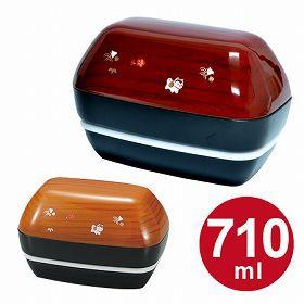 おにぎり弁当箱 HAKOYA 2段 和風 欅木小粋/正木小粋 710ml