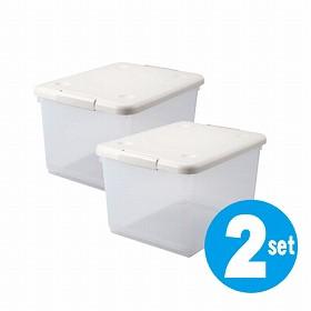 収納ケース とっても便利箱 40L 2個セット(ベッド下 ボックス すき間 隙間 収納 衣替え)