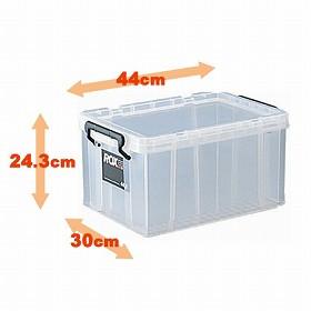 収納ボックス クローゼット用 ロックス 440M 8個セット( フタ付き キャスター取付可 送料無料 )