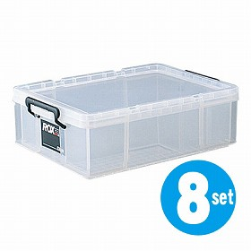 収納ボックス クローゼット用 ロックス 530S 8個セット( フタ付き キャスター取付可 送料無料 )