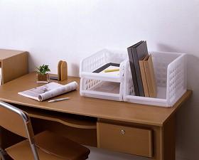 プレクシー 卓上レターケース A4サイズ トレー型( 書類 収納ケース 積み重ね 整理 )