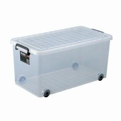 収納ボックス 押入れ用 インロック350M 2個セット ( キャスター コロ付き 衣装ケース  フタ付き )
