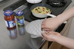 鍋つかみ ダブルアルミコーティング パクパクミトン( キッチン )