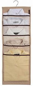 HOME CODE 吊るす収納  ワイシャツケース両面 ( クローゼット ワイシャツ 収納 ハンガー )