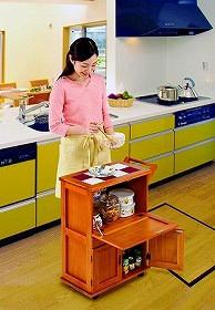 キッチン便利ワゴン (07KT001) 【14941】
